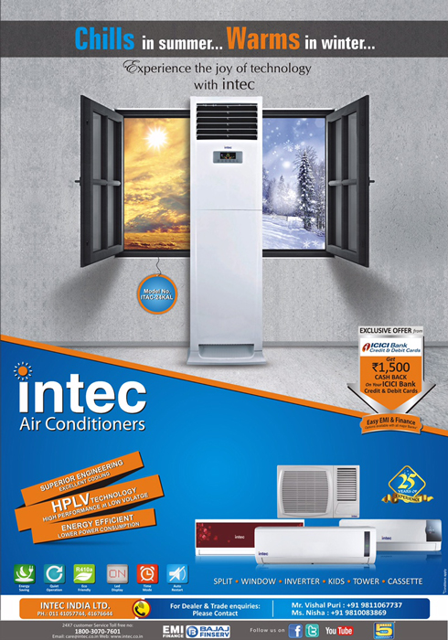 A Wide Range of Tower Air Conditioners Offered by Intec Brand